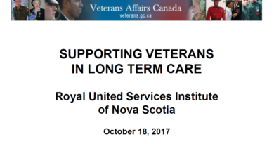 Supporting Veterans in Long Term Care