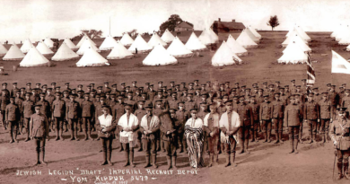 The Training of the Jewish Legion at Fort Edward during the First World War
