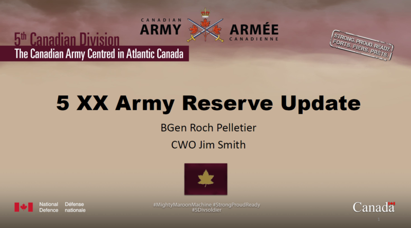 5 XX Army Reserve Update